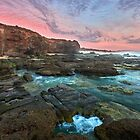Caves Beach NSW Pano by Ian English