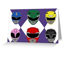 Mighty Morphin' Power Rangers Greeting Card