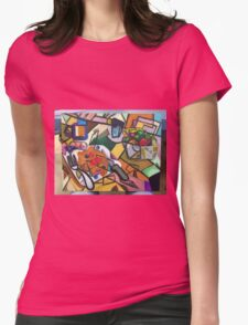 Pancake Breakfast: Picasso Style Womens Fitted T-Shirt