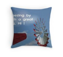 Breezing By Throw Pillow