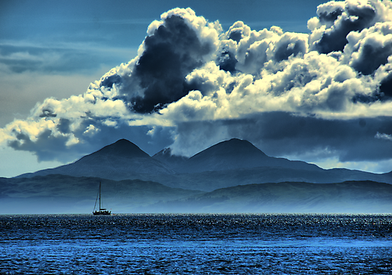 Storm brewing over Jura by Alisdair Gurney