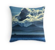 Storm brewing over Jura Throw Pillow