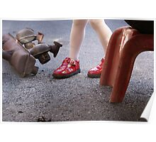 Lil' red shoes Poster