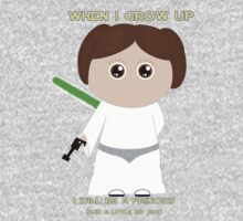 When I grow up, I will be a princess (and a little bit Jedi) Kids Clothes