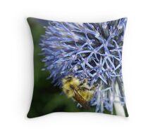 Happy Gardener Throw Pillow