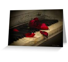 Sonata in Roses Greeting Card