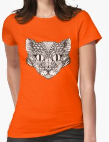 Decorative image of a cat Womens Fitted T-Shirt