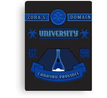 Legend of Zelda - Zora's Domain University  Canvas Print