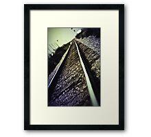 Across the Tracks Framed Print
