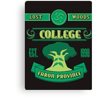 Legend of Zelda - Lost Woods College  Canvas Print