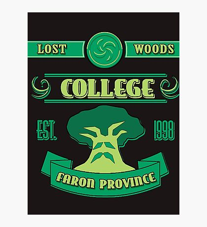 Legend of Zelda - Lost Woods College  Photographic Print