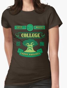 Legend of Zelda - Lost Woods College  Womens Fitted T-Shirt