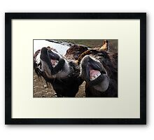 We didn't think we looked THAT bad!! Framed Print