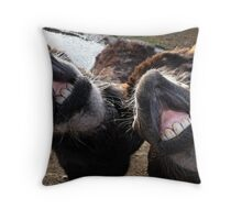 We didn't think we looked THAT bad!! Throw Pillow