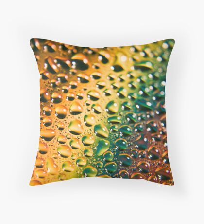 Liquid Rainbow Throw Pillow