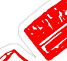Art Community (Black and Red) Sticker