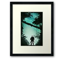 Off the Rock, Through the Bush, Nothing but Jackal Framed Print