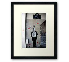 Jef Aerosol - Street Art, Paris Framed Print
