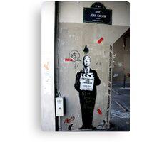 Jef Aerosol - Street Art, Paris Canvas Print