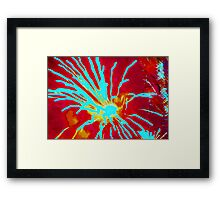 Fiery love Framed Print