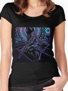NEON PLAYFUL Women's Fitted Scoop T-Shirt