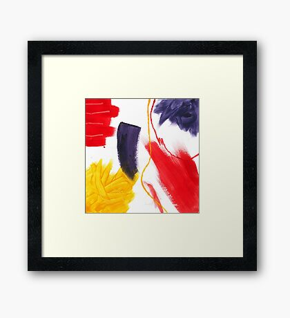 Abstract Striking Acrylic Painting Framed Print