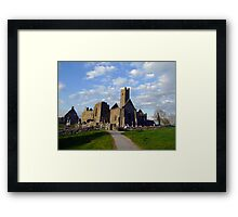 Quin Abbey evening view Framed Print