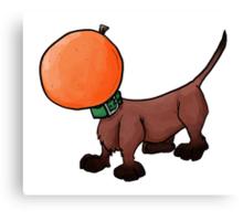 Orange dachshund Canvas Print