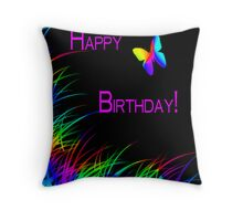 Winged Rainbow HB Throw Pillow