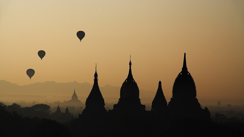 Balloons over Bagan.  by DaveBassett
