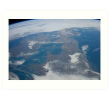 The United Kingdom From Space - UK / Photo from the International Space Station Art Print