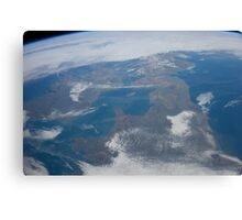 The United Kingdom From Space - UK / Photo from the International Space Station Canvas Print