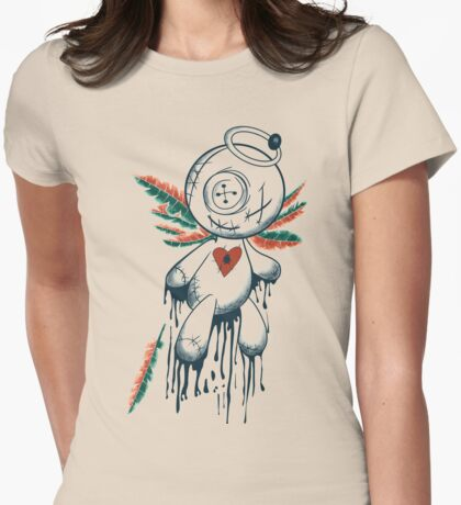Voodoo Angel Womens Fitted T-Shirt