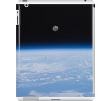 Above The Earth - The moon as seen from the International Space Station - Iss #iss iPad Case/Skin