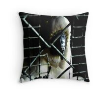 Life In A Cage Throw Pillow