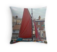 The Amy Howson - A Sailing Barge On York's River Ouse Throw Pillow