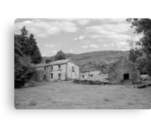 rundown abandoned Irish farmhouse Canvas Print