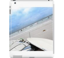 sail with windsurfers getting ready iPad Case/Skin