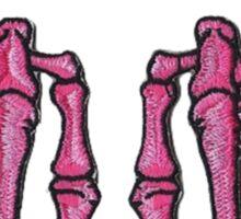 F*ck Off Pink Punk Skeleton Hands Sticker