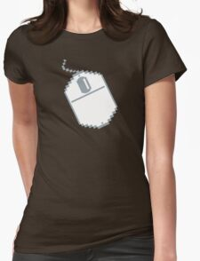 Digital computer mouse Womens Fitted T-Shirt