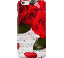 Roses and music! iPhone Case/Skin