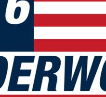 Frank Underwood For US President 2016 Sticker
