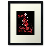 Zombies are coming Framed Print