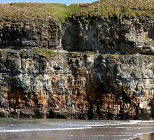 seat at the top of the cliffs in Ballybunion by morrbyte