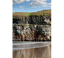 seat at the top of the cliffs in Ballybunion Photographic Print