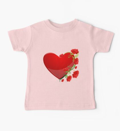 Heart with flowers Baby Tee