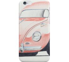 VW Beetle in Pink by Glens Graphix iPhone Case/Skin