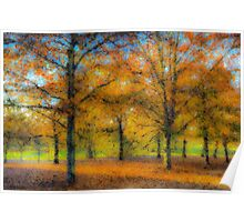 Greenwich Park Autumn Art Poster