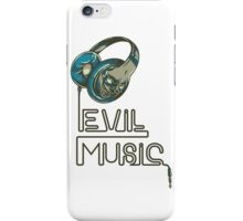 Evil Music iPhone Case/Skin