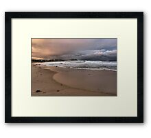 North to Bar Beach Framed Print